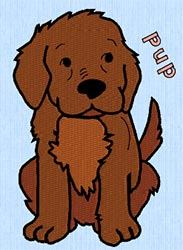 puppy embroidery file - world of animals whats it called